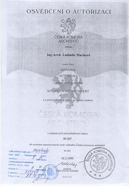 Autorizace Arch. Machova