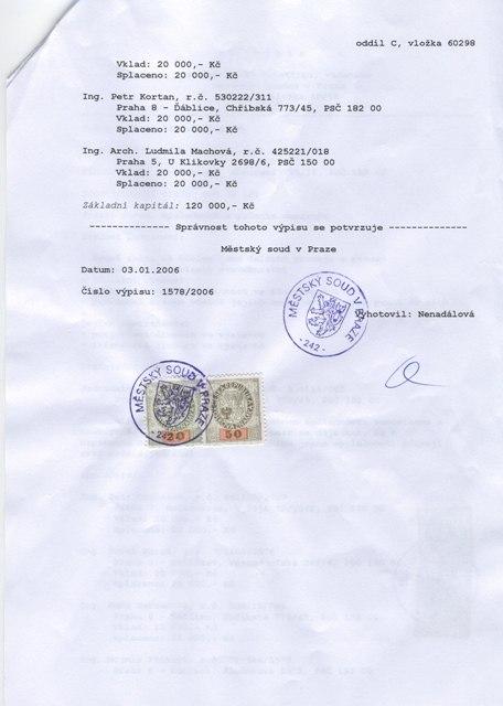 Výpis z Obchodního rejstříku 2